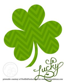 Free Printable: St. Patrick's Day Art. There's also a polka dot & houndstooth version. So cute!