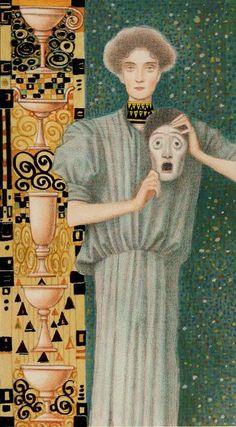 Five of Cups The Golden Tarot of Klimt by Atanas Alexander Atanssov