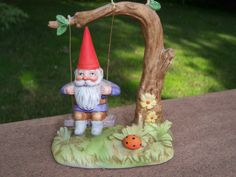 1979 Unieboek Gnome on a Swing by SylviasFinds on Etsy, $7.00