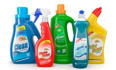 Illustration about Plastic detergent bottles on white background. Illustration of housework, laundry, image - 27979759 Chemical Burn, Detergent Bottles, Solid Waste, Cleaning Companies, Cleaning Wood, Natural Cleaners, Natural Cleaning Products, Household Products, Hamburg