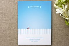 Picket Fence Moving Announcements by Molly Brekke at minted.com