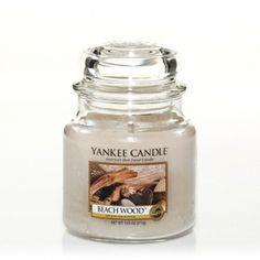 Beach Wood™ : Medium Jar Candle : Yankee Candle: Seasoned by the elements. . . this modern blend of vetiver, salt air and driftwood creates an intriguing fragrance.