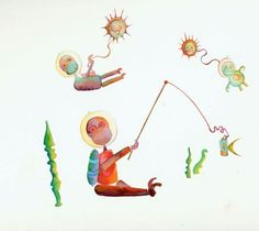 Sea Monkey Illustration Sea Monkey Art Print by lynchdesign, $23.00