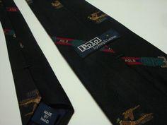 RALPH LAUREN POLO Neck Tie TWILL 100% Silk Pheasants Hand Made NeckTie #RalphLauren #NeckTie