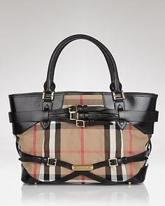 183e1d5f32 Burberry Tote - Bridle House Check Medium Lynher Handbags - All Handbags -  Bloomingdale s