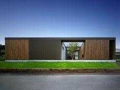 House in Kasuya-gun by Matsuyama Architect and Associates Minimalist Architecture, Japanese Architecture, Modern Architecture House, Facade Architecture, Residential Architecture, Amazing Architecture, Modern House Design, Image Zen, Modern Prefab Homes