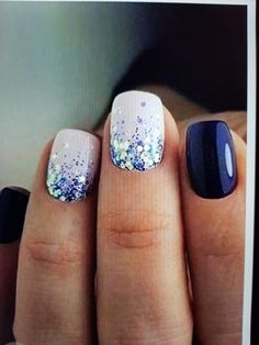 prеttу wіntеr nails art dеѕіgn inspiration - Famous Last Words Fancy Nails, Love Nails, Pink Nails, How To Do Nails, My Nails, Blue Toe Nails, Nagellack Design, Dipped Nails, Nagel Gel