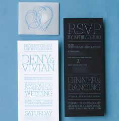 20 Modern Letterpress Wedding Cards