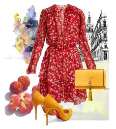 """Fruit"" by eledonoghue ❤ liked on Polyvore featuring Raquel Diniz, Yves Saint Laurent and Christian Louboutin"