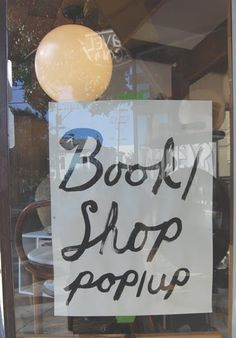 book/shop pop up @ gravel and gold SF, great store.