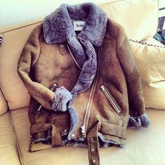 Still want it! Acne shearling jacket