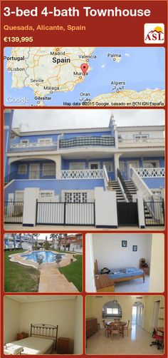 3-bed 4-bath Townhouse in Quesada, Alicante, Spain ►€139,995 #PropertyForSaleInSpain