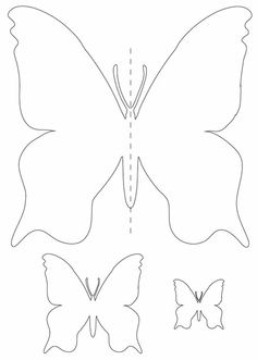 Gabarit papillon Quilling Patterns, Felt Patterns, Applique Patterns, Applique Templates, Card Templates, Butterfly Decorations, Butterfly Crafts, Flower Crafts, Diy Flowers
