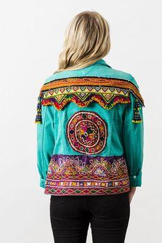 Vintage Tommy Hilfiger embellished denim jacket