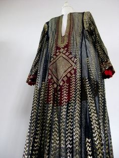 Assuit tunic, late 19th century, from Egypt/North Africa.  Probably worn to society events in Houston during the 1920s