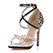 Leatherette Stiletto Heel Sandals With Buckle... – DKK kr. 424