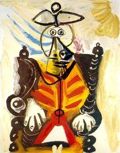 Pablo Picasso, 1969 Homme dans un fauteuil 1 on ArtStack #pablo-picasso #art