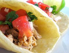 Tequila Lime Pulled Pork Tacos (I might even put some tequila in the crock pot!)