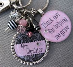 Cute teacher presents.. Keychains and necklaces