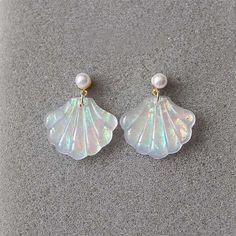 MERMAID EARRINGS (1pair) ($4.95) ❤ liked on Polyvore featuring jewelry, earrings and earring jewelry