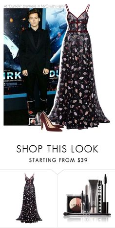 """At ""Dunkirk"" premiere in NYC with Harry"" by perfectharry ❤ liked on Polyvore featuring Costarellos, LORAC and Gianvito Rossi"