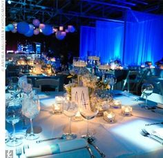 Wedding / Blue Lighting / lanterns
