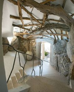 whole tree architecture, would love to build a house like this Organic Architecture, Interior Architecture, Interior And Exterior, Interior Design, Interior Stairs, Residential Architecture, Contemporary Architecture, Stone Interior, Architecture Panel