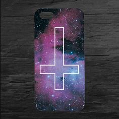 Inverted Cross Sky Design Printed Hard Plastic Mobile Phone Case for Apple iPhone 5 5s 4 4s 5c 6 6s plus