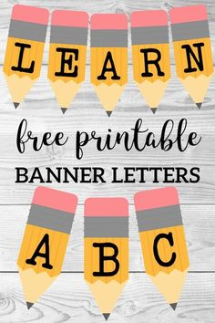 Welcome Back School Banner {Pencil Letters} – Paper Trail Design Welcome back to school ABC pencil banner letters. Free printable alphabet banner to decorate a classroom bulletin board, door, or family party. Kindergarten Bulletin Boards, Bulletin Board Letters, Back To School Bulletin Boards, Classroom Bulletin Boards, Preschool Classroom, Classroom Door, Disney Classroom, Montessori Elementary, French Classroom