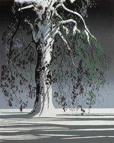 Fir Tree in Snow. Serigraph. Eyvind Earle®