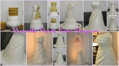 Wedding dress cake created by Priscilla Redondo Prado. Like us: www.facebook.com/mestrecucadoces