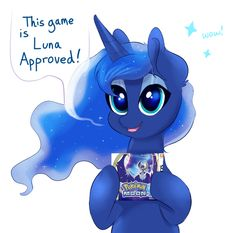 This game is Luna approved! My Little Pony Comic, My Little Pony Drawing, My Little Pony Pictures, Celestia And Luna, Princess Celestia, Mlp Memes, Pokemon, Little Poni, Mlp Fan Art
