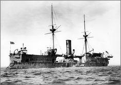 Vintage photographs of battleships, battlecruisers and cruisers.: Ironclad battleship H.M.S. Edinburgh