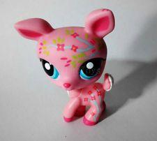 Littlest Pet Shop LPS #1356 Deer Pink w Flowers Cute Figure