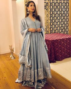 Making dresses on customer demand eid booking starts now book ur order   Indian Long Frocks, Indian Long Dress, Dress Indian Style, Dresses Elegant, Beautiful Maxi Dresses, Beautiful Outfits, New Designer Dresses, Indian Designer Outfits, Anita Dongre