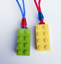 LEGO Party Favor Necklaces ~ Great for a birthday party, decorations, supplies, crafts, or favors!