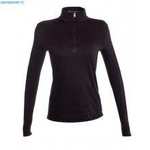 Spyder Women Shimmer Bug Velour Fleece T Neck – Black