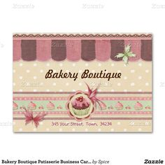 Sweet business card for patisserie, bakery and other sweet treat businesses. It…