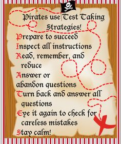 "The Creative Counselor Blog - Shhhh! The secret ""pass"" word for testing is PIRATES!"
