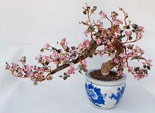Vintage Large Glass Bonsai Tree Pink Cherry Blossom Wire Glass 19 Tall X 30 Bonsai Tree Cherry Blossom Bonsai Tree Bonsai