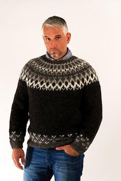 The Skipper pullover design is inspired by the classic Icelandic tradition of hand knitted wool sweaters.  Mothers usually knitted these garments for their sons and husbands.