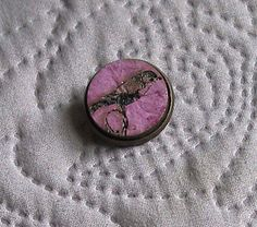 Robin Brooch, Recycled Handmade Paper Jewel, Laser Engraved, Cabuchon Brooch Back. Lilac and Bronze. by CherryfieldLane on Etsy Laser Engraving, Robin, Lilac, Recycling, Bronze, Jewels, Personalized Items, Unique Jewelry, Handmade Gifts