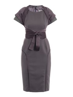 Beautiful grey dress to go from day to evening. Just change the shoes and add some jewelry and lipstick!