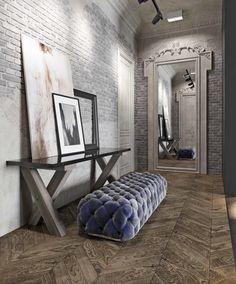 Дизайн проекта лофт в клубном доме DEPRE LOFT. #Depreloft #design #sofa #brickwall #interiors #loft #outoftime #интерьерлофта #studio211 #НашиПроектыStudio211