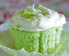 I made these freaking amazing key lime cupcakes, with key lime homeade frosting!  I made it for a family reunion and they LOVED them.  Be sure to try! They are amazing for when you feel like you need something limey!!!!! I made my own glaze with just a little bit of lime juice, lime zest, and powder sugar.  I put it on right after the cupcakes came out of the oven :) Holy GOODNESS I want one!