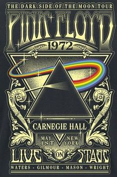 Vintage grunge ➳➳➳☮American Hippie Music - Pink Floyd at Carnegie Hall - Carlotta - Vintage grunge ➳➳➳☮American Hippie Music - Pink Floyd at Carnegie Hall Vintage grunge ➳➳➳☮American Hippie Music - Pink Floyd at Carnegie Hall 1972 concert poster More - Pink Floyd Dark Side, Rock Posters, Hippie Posters, Arte Pink Floyd, Rock And Roll, Concert Rock, Carnegie Hall, Vintage Concert Posters, Kunst Poster