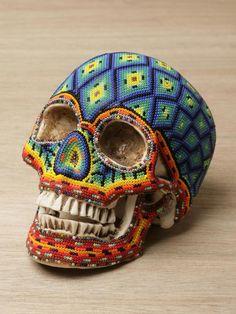 beaded skull.