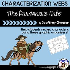 "3 FREE characterization webs for ""The Pardoner's Tale"" from The Canterbury Tales by Geoffrey Chaucer"