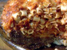 Get Adriana's Pasta Pie Recipe from Food Network