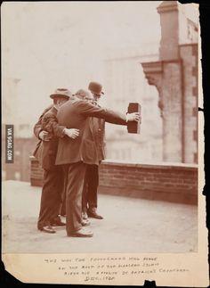 Selfie, circa 1920.